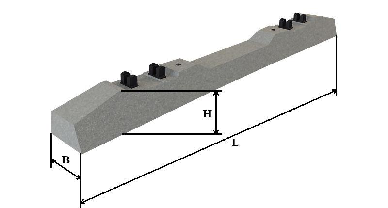 Размеры железобетонных шпал марки ш1-1