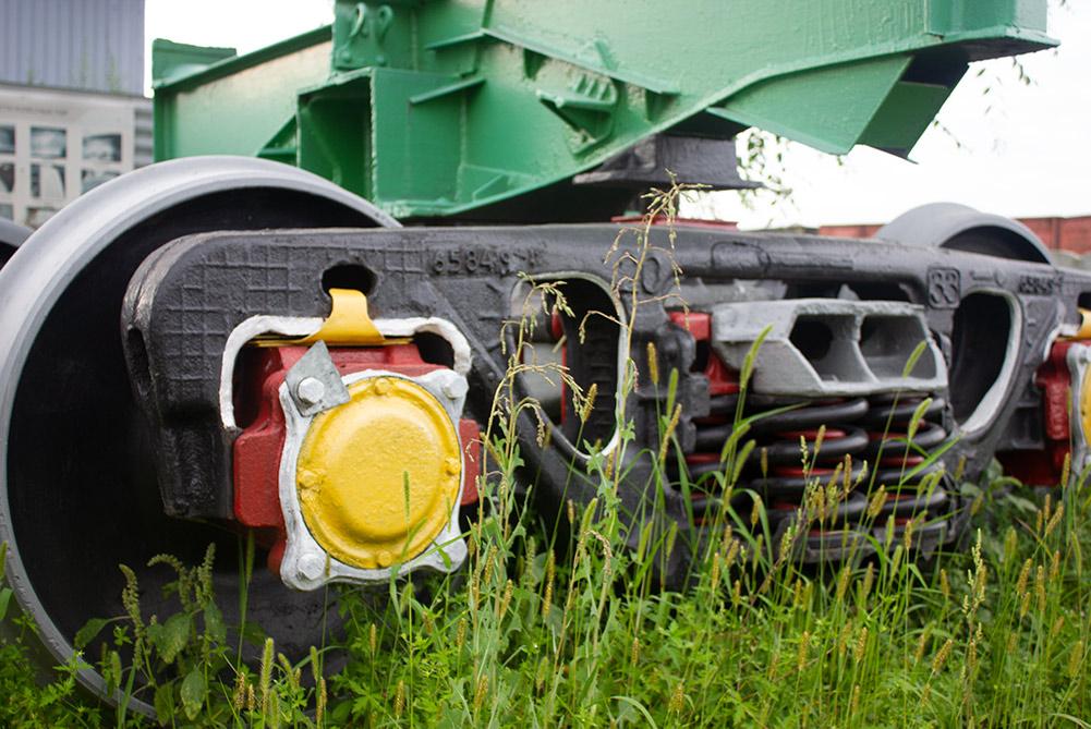 Крыльчатые буксы пассажирского вагона