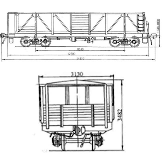 Модель полувагона 11-Н003