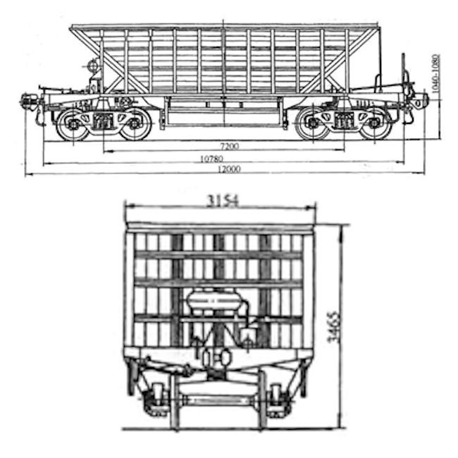 Модель полувагона 20-471