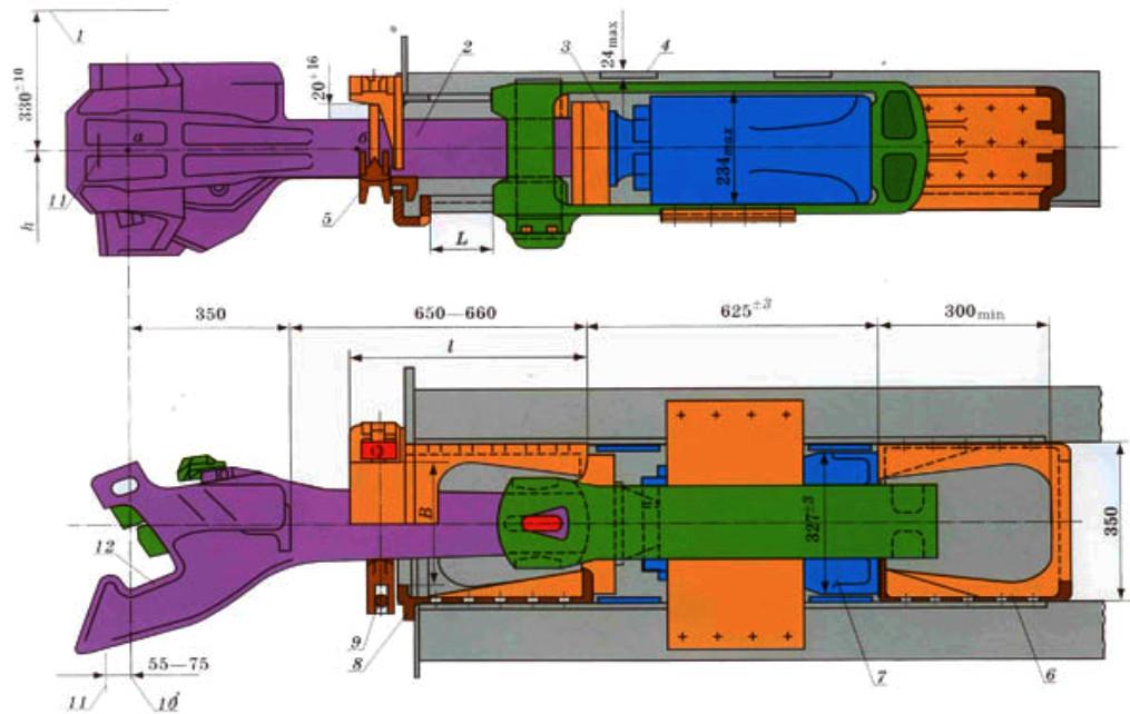 размеры автосцепки са-3